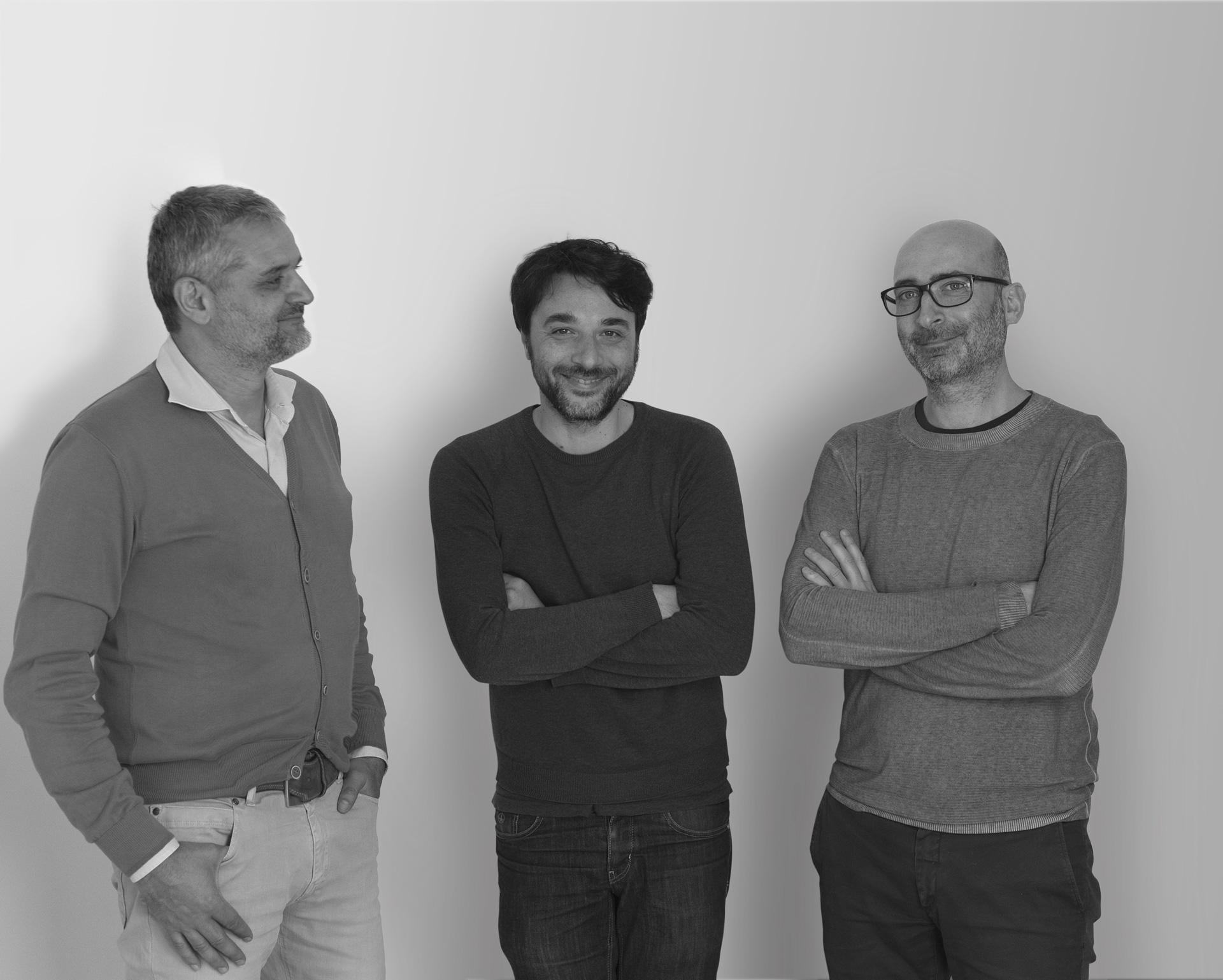 Atelier790 / (da sx) Antonio Giancontieri, Leonardo Vaccaro, Nino Lombino