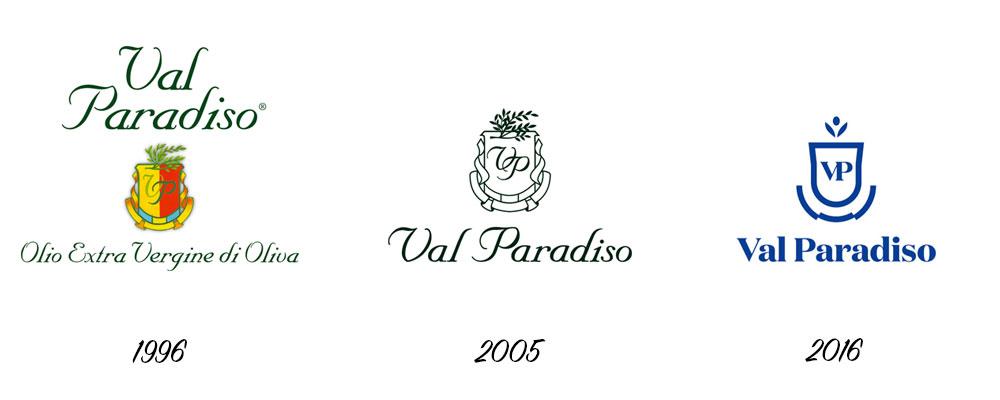 Evoluzione logo Val Paradiso